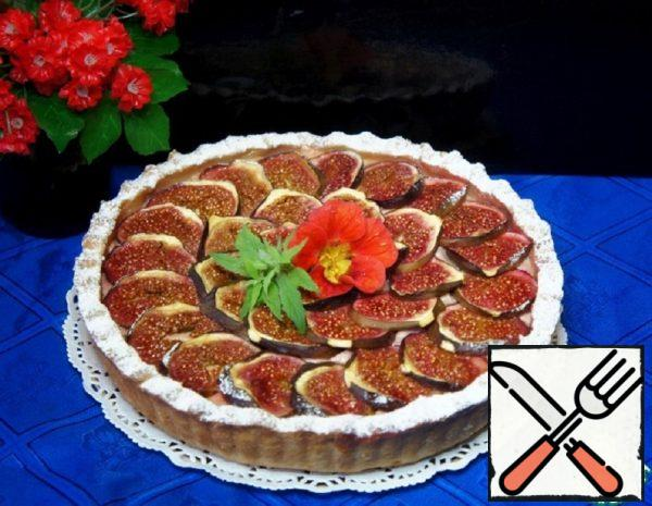 Shortbread Cottage Cheese Pie with Figs Recipe