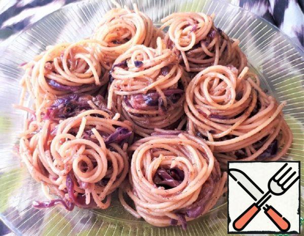 Vegan Pasta with Red Cabbage Recipe