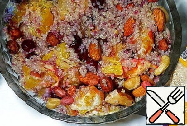 Quinoa Porridge with Orange and Nuts Recipe