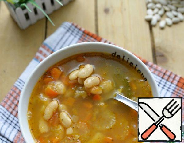 Bean and Fried Vegetable Soup Recipe