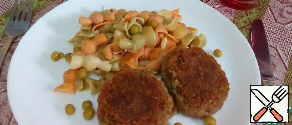 Buckwheat Cutlets with Green Peas and Tricollini Recipe