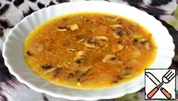 Serve our colorful soup to the table and get a lot of pleasure from the praise of our loved ones.
