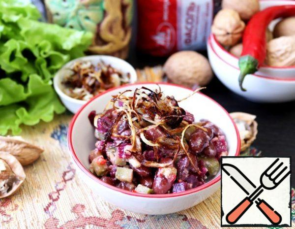 Bean Salad with Nut Dressing Recipe