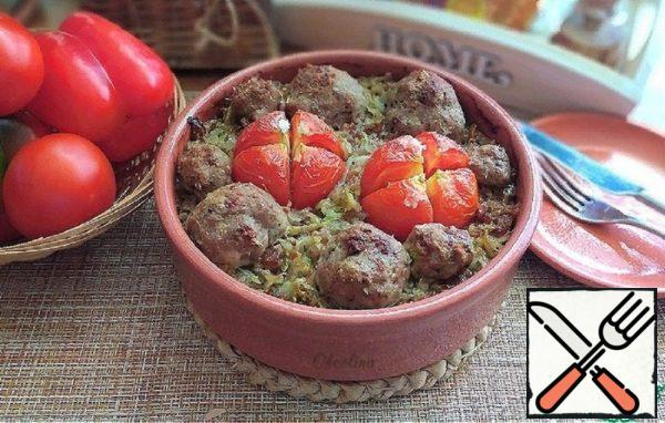 Meatballs Baked with Vegetables Recipe