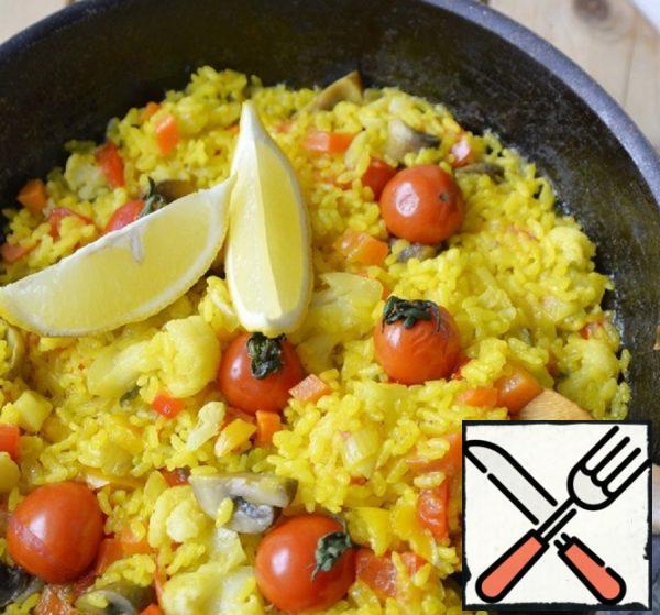"Rice with Vegetables ""A la Paella"" Recipe"