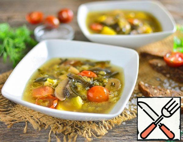 Mash Soup with Seaweed Recipe