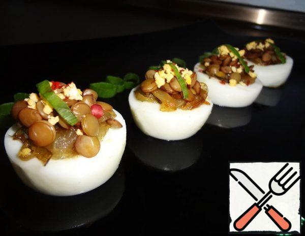 Egg and Green Lentil Appetizer Recipe