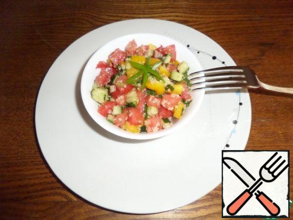 We serve our salad.