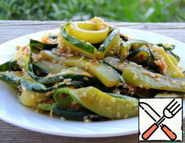 Korean Fried Cucumber Salad Recipe