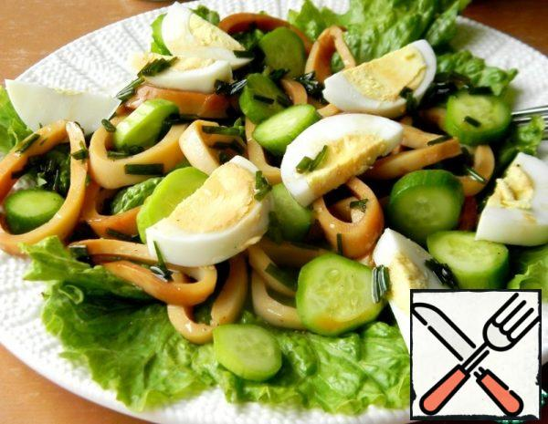 Salad with pickled Squid Recipe