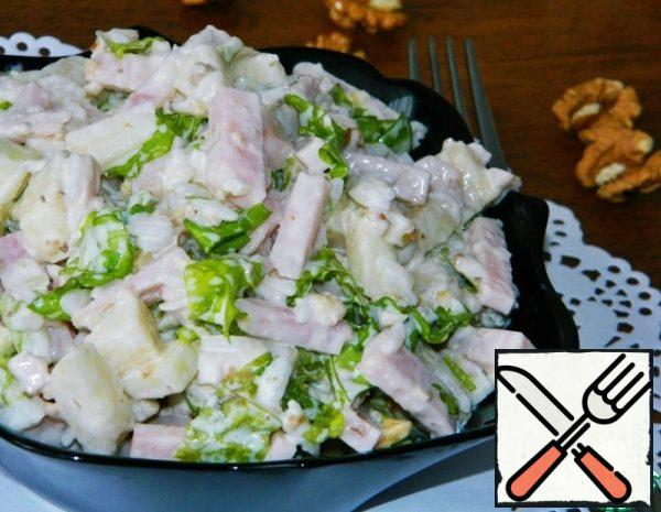 Salad with Pear and Ham Recipe