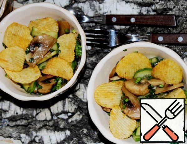 Cucumber and Mushroom Salad Recipe