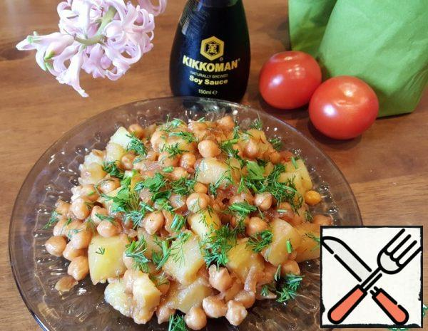 Salad-Side Dish of Chickpeas and Potatoes Recipe