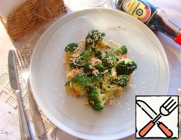 Steamed Broccoli with Sesame Seeds Recipe