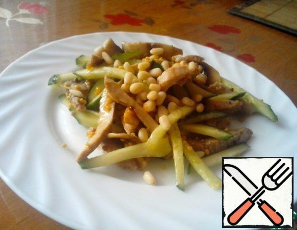 Salad with Meat and Pine Nuts Recipe