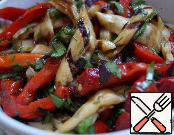 Grilled Pepper and Eggplant Salad Recipe
