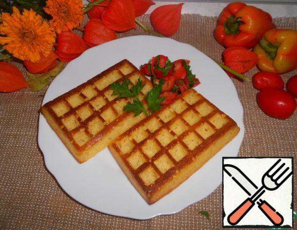 Cheese Waffles with Tomato Salsa Recipe