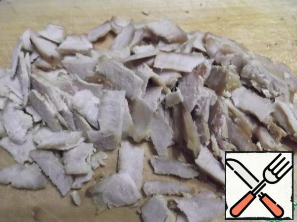Fry the meat in a frying pan until tender and thinly slice.