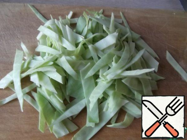Cabbage cut (cabbage can be any, at the moment I had white cabbage)