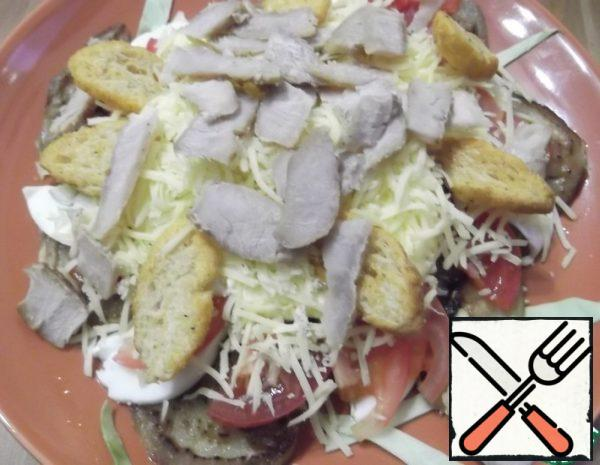 Salad with Chicken and Eggplant Recipe