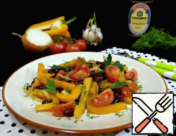 Warm Vegetable Salad with Beans Recipe