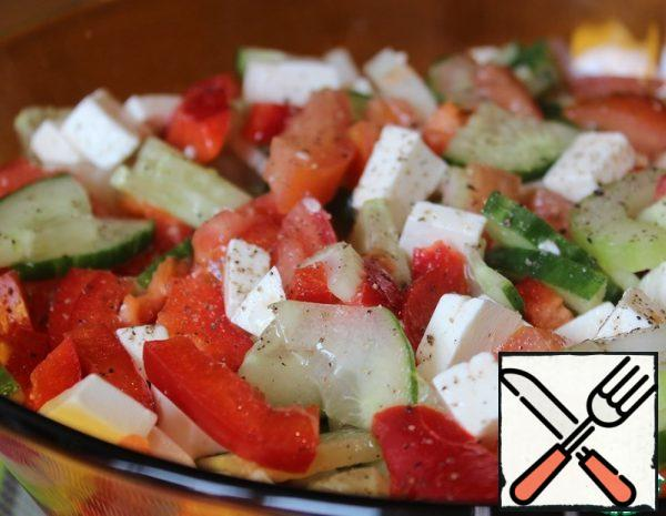 Vegetable Salad with Celery and Feta Recipe