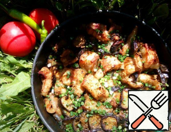 Fish baked with Eggplant Recipe