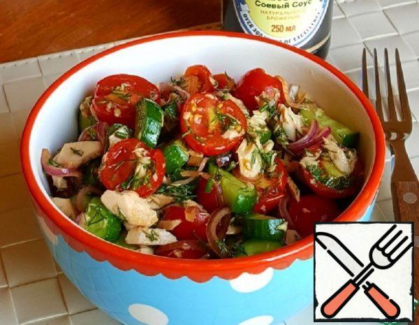 Green Salad with smoked Tuna Recipe