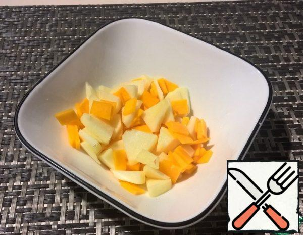 Raw Pumpkin Salad with Apple Recipe