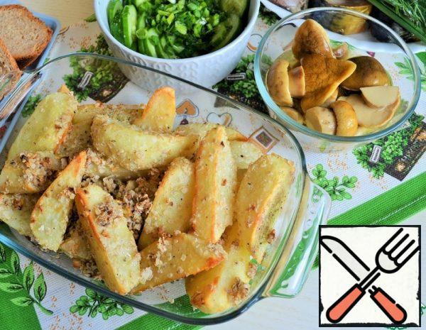 Potatoes in Garlic-Oat Breadcrumbs Recipe