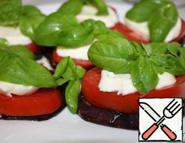 Marinated Eggplant with Mozzarella and Tomatoes Recipe