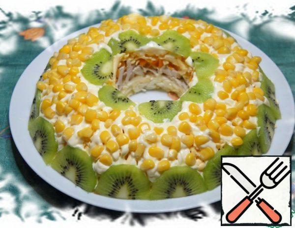 Salad with Kiwi and Corn Recipe