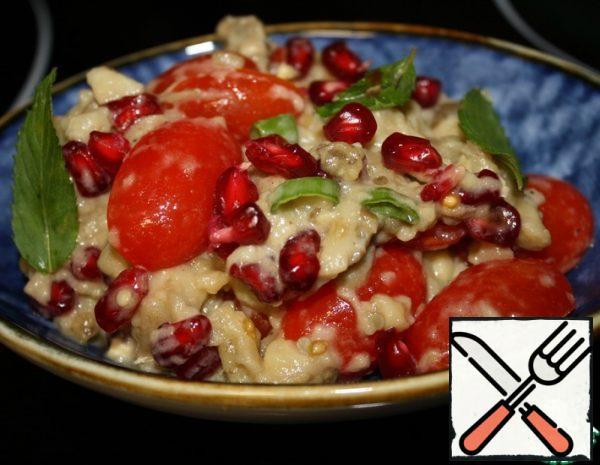 Baked Eggplant Salad with Pomegranate Recipe