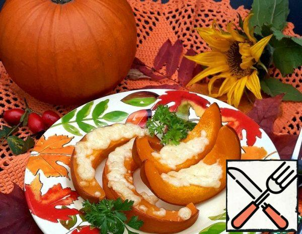 Pumpkin with Cheese, baked in the Oven Recipe