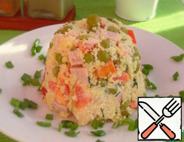 Salad with Couscous and Ham Recipe