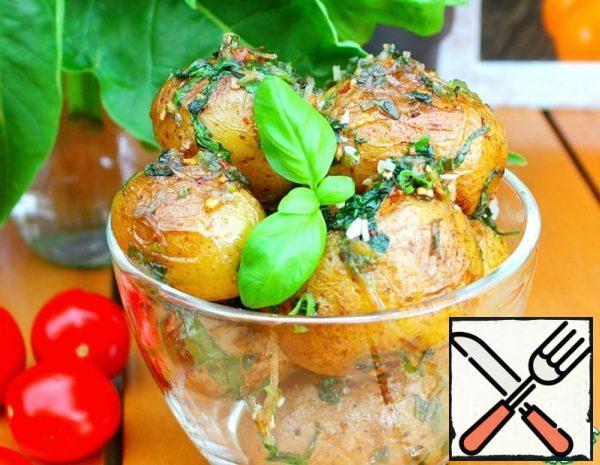 Aromatic Potatoes with Basil Recipe