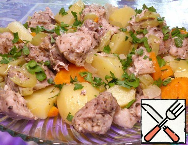Pork with Steamed Vegetables Recipe