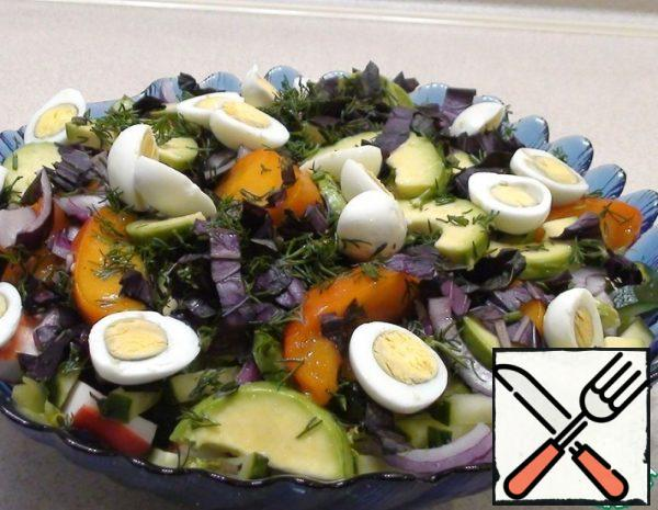 Salad with Persimmon and Avocado Recipe
