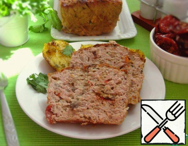 Meat Loaf with Cheese, Mushrooms and Tomatoes Recipe