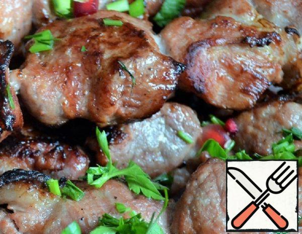 Shish Kebab in Mustard-Pomegranate Marinade Recipe