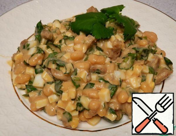 Salad with Canned Beans and Coriander Recipe