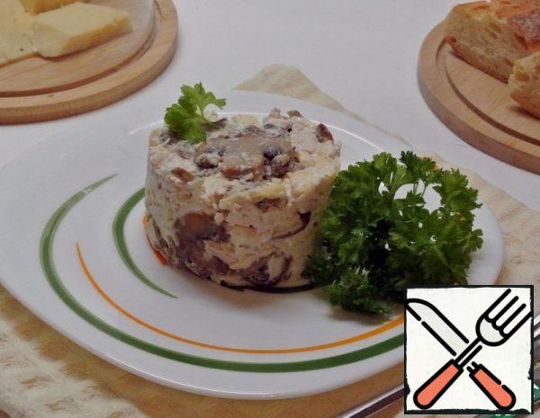 Mushroom Salad with Chicken Recipe