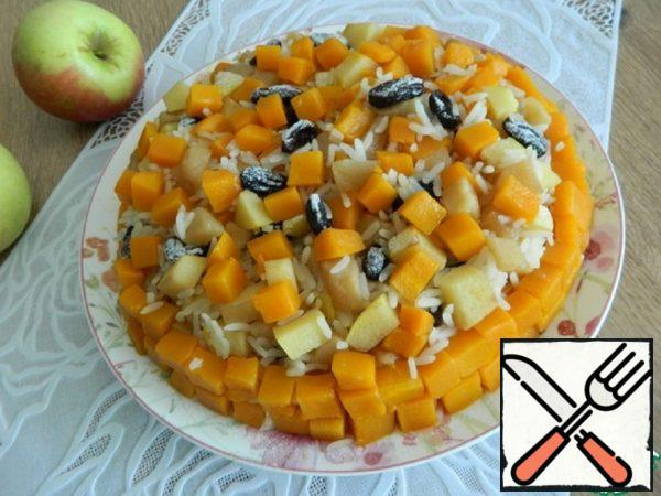 Pumpkin Casserole with Rice and Quince Recipe