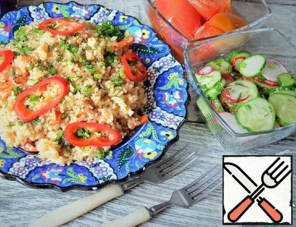Lean Pilaf with Brown Rice Recipe