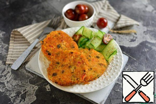 Remove the cutlets from the pan when they are cool and serve.