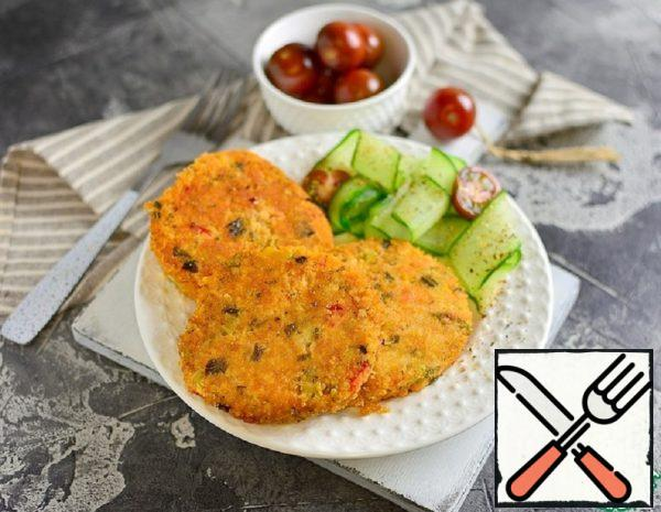 Millet Cutlets with Broccoli and Peppers Recipe
