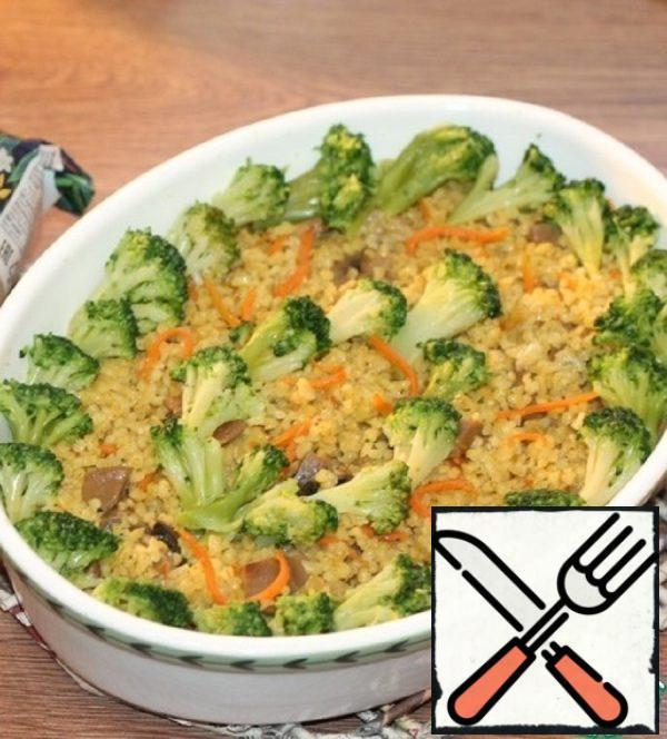 Bulgur with Broccoli and Mushrooms Recipe