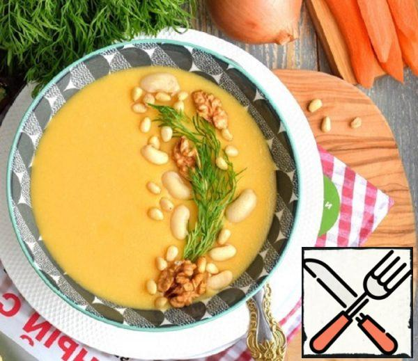 """Bean Soup-Puree with Nuts """"Lean"""" Recipe"""