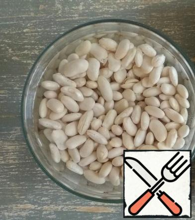 Soak the beans in cold water overnight.