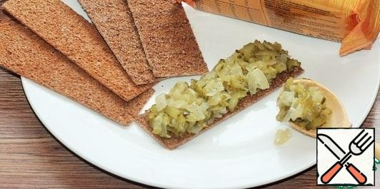 Before serving, spread the cucumber mixture on crusty bread.